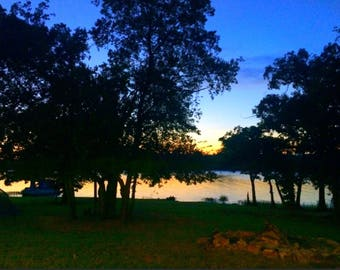 Lake at Twilight Photo Print