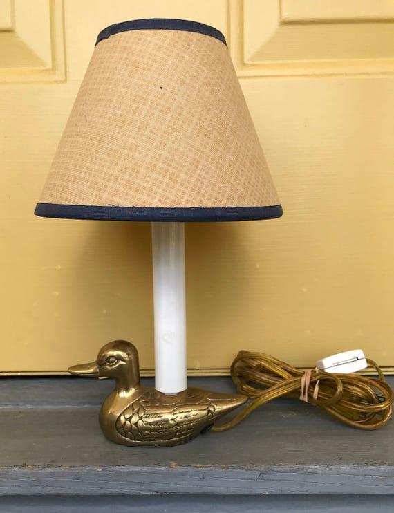 Vintage brass duck night light vintage brass accent lamp