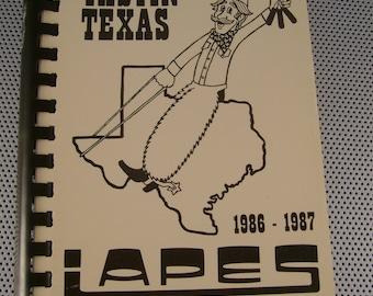 "Vintage 1984 ""Tastin' Texas"" Cookbook~Dallas Texas Chapter of IAPES"