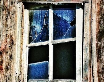 Abandoned Barn Window- 8 x 10 FIne Art Photography -Home Decor - Office Decor