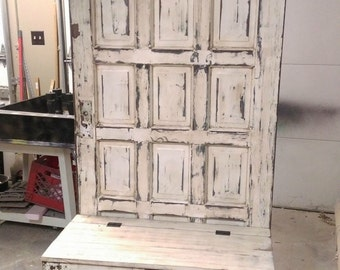 Awesome ON SALE Hall Tree   Wooden Door Hall Tree   Repurposed Door   Entryway  Bench