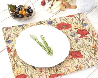 Luxurious tapestry PLACEMAT, washing machine friendly, durable jacquard fabric - perfect both for everyday or holiday table decor