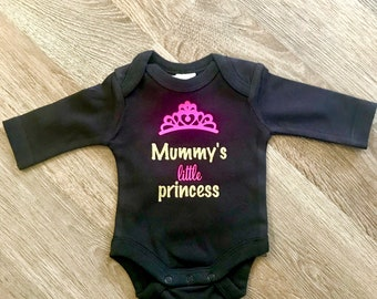 Mummy's little princess onesie size 00000 (five zero)