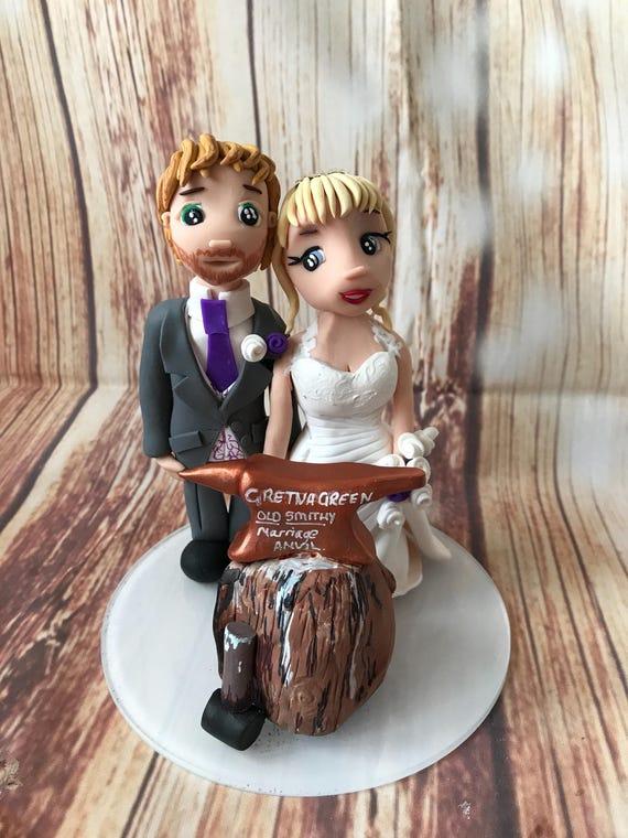 Wedding cake Topper gretna / elope Fully Personalised a lovely keepsake - Bride and Groom/Same Sex/Wedding couple