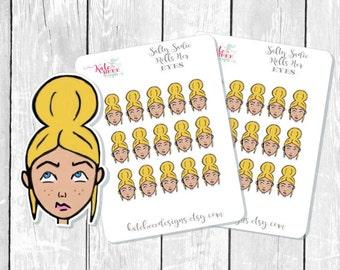 Hand Drawn Planner Stickers - Salty Sadie - Erin Condren Planner Stickers - Happy Planner Stickers - Planner Stickers - Sassy Stickers
