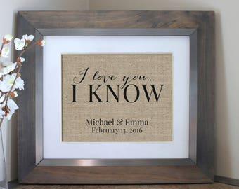 I Love You I Know Star Wars Print | Princess Leia & Han Solo | Star War Wedding | I Love You I Know Wedding Gift | Star Wars Engagement Gift