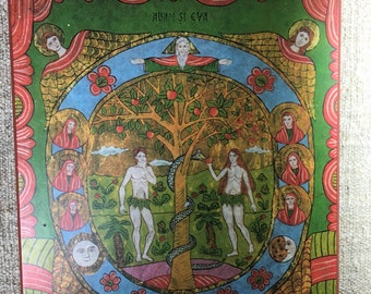 Icon of Adam and Eve in Paradise ( copy of original in Roumania)