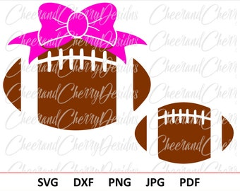 Football Laces SVG Bow Football Svg for Girl Football Monogram SVG Football cut file Sport SVG file for Cricut Football Silhouette Cut Files