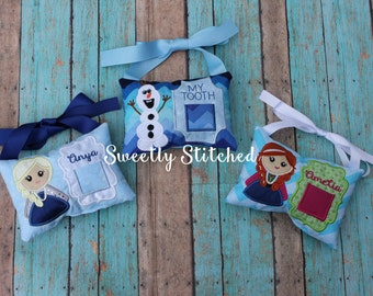 Frozen Inspired Tooth Fairy Pillow