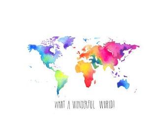 What a Wonderful World (8.5x11 Print)