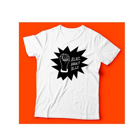 Riot Don't Diet - T-Shirt (black) YWAPS