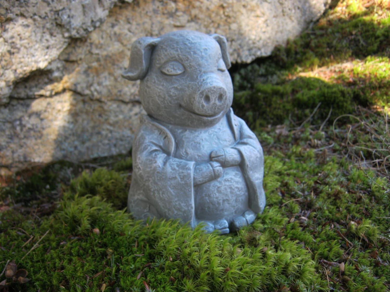 Pig statue meditating buddha pigs zen animals pig figures zoom workwithnaturefo