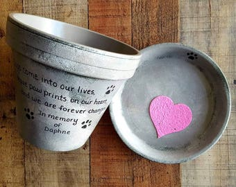 Dog Sympathy Gift - Cat Sympathy Gift - Pet Memorial Gift - Painted Flower Pot - Large Planter - Pet Sympathy Gift