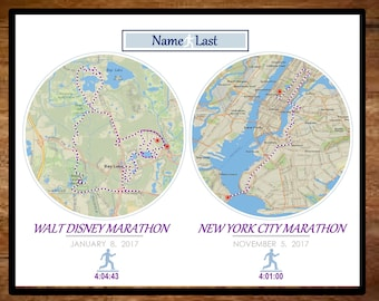 CUSTOM Marathon Map Print