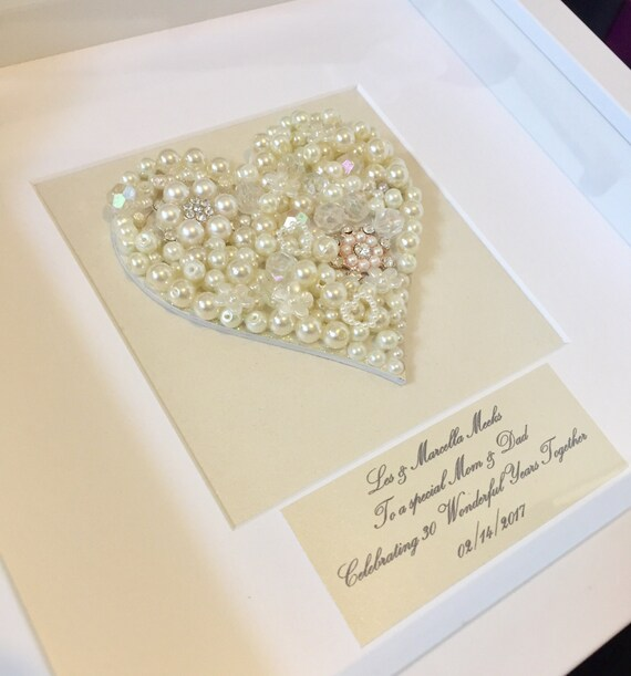 Gifts For A Pearl Wedding Anniversary: Items Similar To 30th Pearl Wedding Anniversary Gift