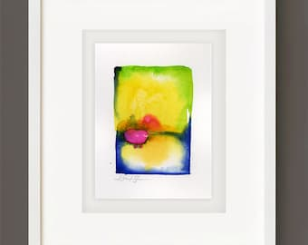 Finding Serenity No. 2 - Original Minimalist Abstract Watercolor Painting by Kathy Morton Stanion EBSQ