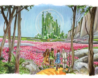 The Wizard of Oz -  Emerald City Print