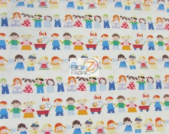 100% Cotton Fabric By Windham Fabrics - Mother Goose United Family - Sold By The Yard (FH-2405)