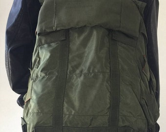 XL, Military Backpack, Large, Green Canvas, Backpack