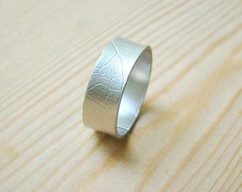 Mens wedding Band, textured mens ring, hammered nickel silver ring, mens silver ring, silve ring band