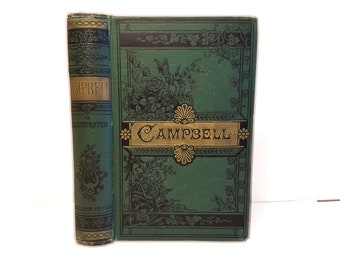 Hollow Book Safe Campbell's Works  Cloth Bound vintage Secret Compartment Security hiding place