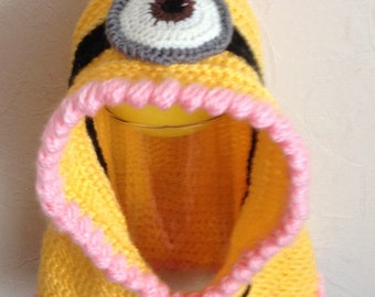 Minion hat/hoody/cowl crochet