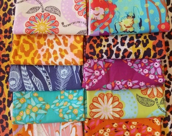 Field Study by Anna Maria Horner for Freespirit Fabric Unwashed Quilting Cotton Fat Quarters, Rare, HTF, OOP FQs 10 Different Prints