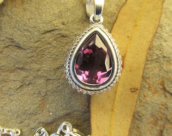 Alexandrite pendant necklace Alexandrite necklace alexandrite sterling silver necklace purple gemstone necklace Victorian style gifts.