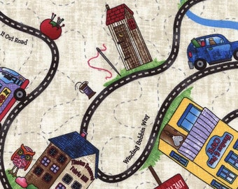 SALE - Timeless Treasures - Row by Row Home Sweet Home - Road Trip Map