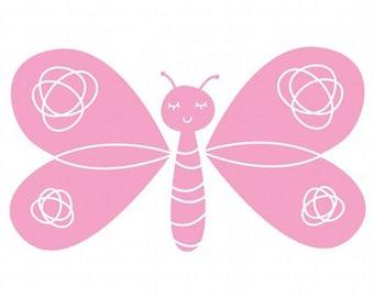 Butterfly Vinyl Decal size LARGE: Child Decor, Children's Room, Nursery, Home Decor, Bedroom Decor, Butterfly Decor, Butterfly Design,