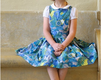 Child Pinafore Dress Sewing Pattern, The Kinderschürze Dress Sized 12mo to 12y