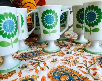 Set of 6 Sunflower Mugs