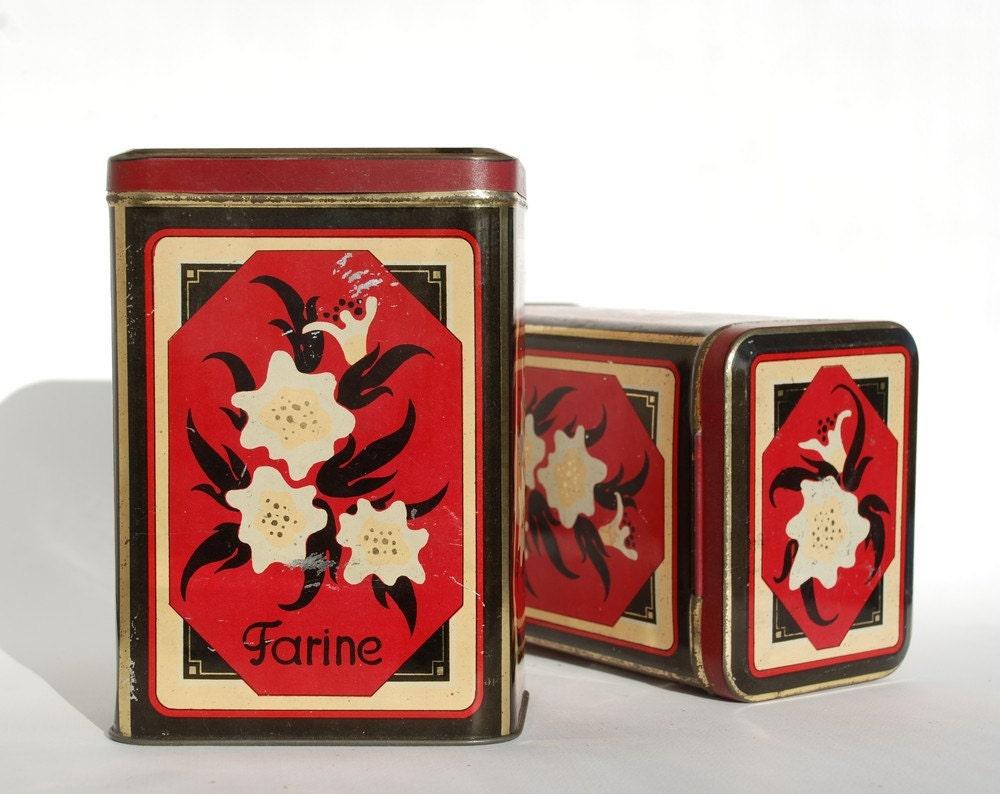 Jahrgang Zinn Kanister Metall-Box mit Deckel Kaffee Mehl