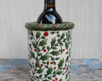 Ceramic Holiday Wine Cooler!