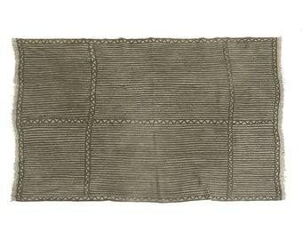 Antique handmade Bogolan strip-woven mud cloth from Mali, West Africa B184