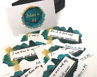 Believe in ME luxury affirmation cards / gift/positive affirmations/truth