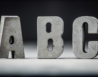 Concrete Letters  | Choose your letter | Concrete Alphabet | Handmade | Brutalist | Personalised Gift