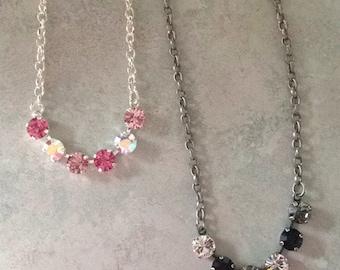 6 stone Necklaces in Swarovski