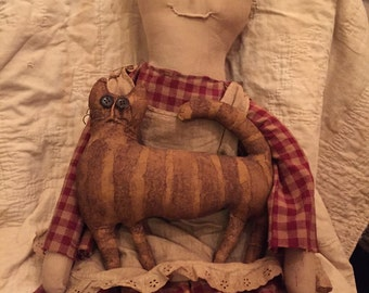 Primitive Doll and her kitty