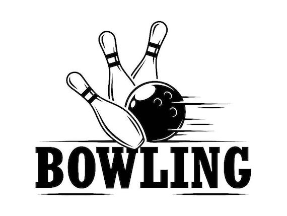 Bowling logo 7 ball pin sports bowl game bowler alley strike - Bowling dessin ...