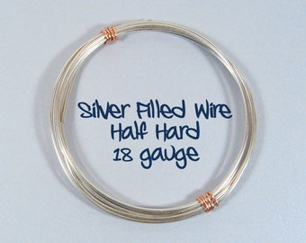 18ga HH Half Hard Silver Filled Wire - Choose Your Length