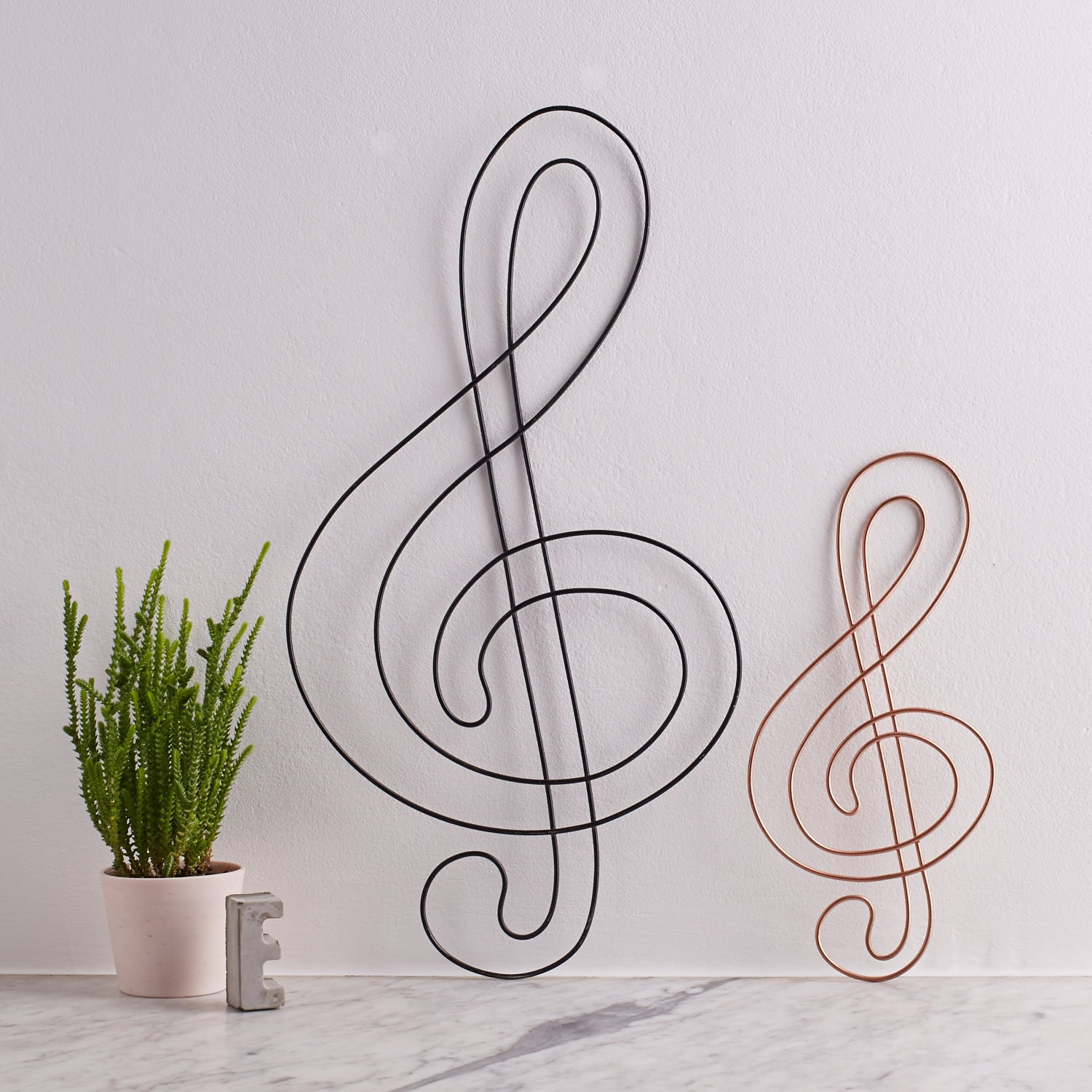 Wire Treble Clef treble clef Music gift gift for musicians