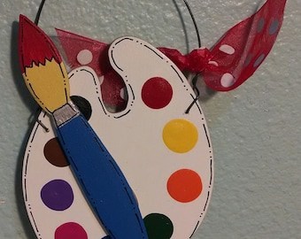 Paint Brush and Palette Ornament