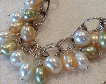 50% off Freshwater Pearls Sterling Bracelet Bliss OOAK