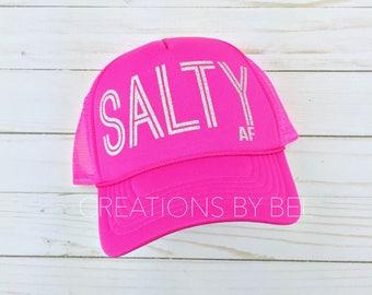 Salty Trucker Hat / Salty AF Hat / Salty AF / Real Housewives of Orange County / Trucker Hat / Pink Hat / Pink Cap / Pink Trucker Hat