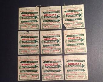 Vintage Wrigley's Gum Wrapper 1920s advertisement profit sharing coupon