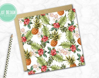 Pineapple Party Mini Card