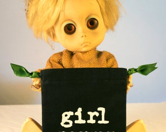 Girl Germs Menstrual Cup Bag Pouch Riot Grrrl 90's Zines