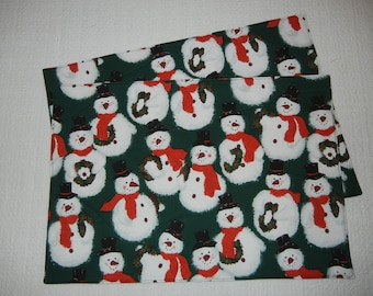 Snowmen Placemats, Set of Two