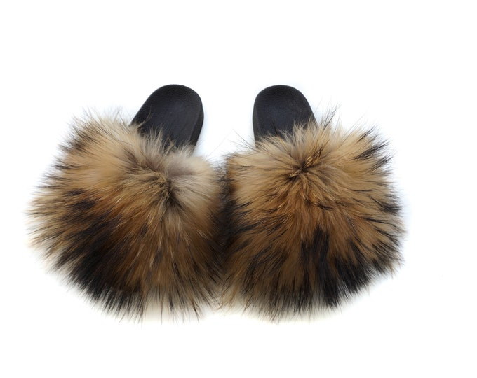 Fashion Fox Fur Slippers,Fur Slippers F855